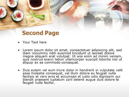 Sushi PowerPoint Template, Slide 2, 00643, Food & Beverage — PoweredTemplate.com
