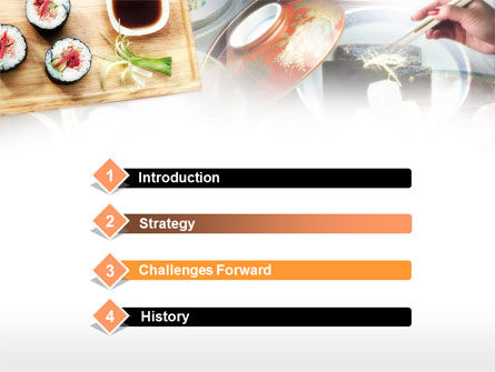 Sushi PowerPoint Template, Slide 3, 00643, Food & Beverage — PoweredTemplate.com