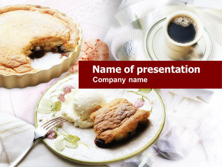 Piece of Pie PowerPoint Template, 00646, Food & Beverage — PoweredTemplate.com