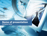 Business Concepts: Computer Navigation PowerPoint Template #00647