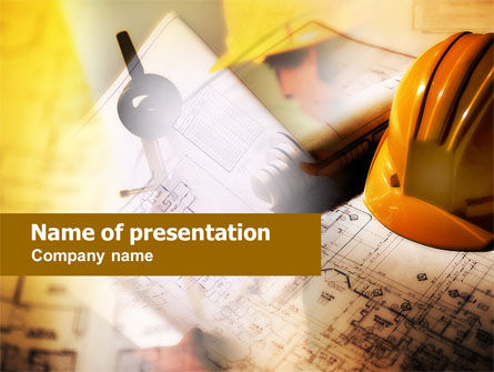 Building Plan PowerPoint Template, 00649, Construction — PoweredTemplate.com