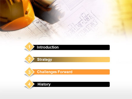 Building Plan PowerPoint Template, Slide 3, 00649, Construction — PoweredTemplate.com