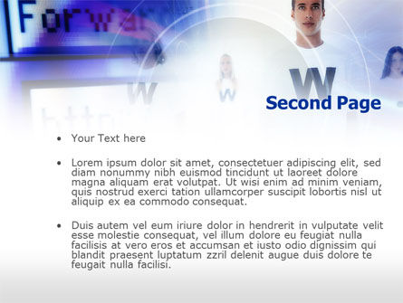 Web Services PowerPoint Template, Slide 2, 00651, Technology and Science — PoweredTemplate.com