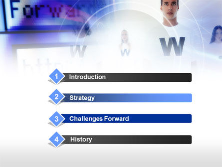 Web Services PowerPoint Template, Slide 3, 00651, Technology and Science — PoweredTemplate.com