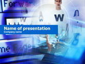 Technology and Science: Plantilla de PowerPoint - servicios web #00651
