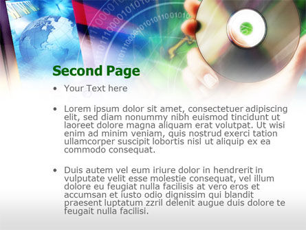 Compact Disc PowerPoint Template, Slide 2, 00652, Technology and Science — PoweredTemplate.com