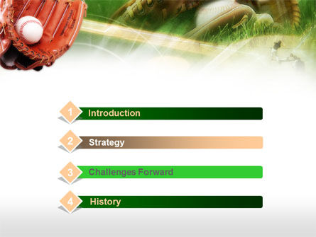 Baseball Glove PowerPoint Template, Slide 3, 00653, Sports — PoweredTemplate.com