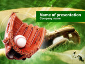 Sports: Baseball Glove PowerPoint Template #00653