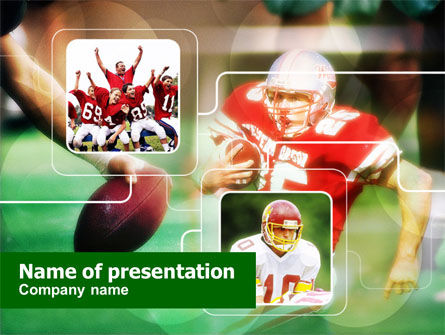 Super Bowl PowerPoint Template, 00654, Sports — PoweredTemplate.com