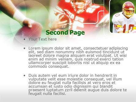 Super Bowl PowerPoint Template, Slide 2, 00654, Sports — PoweredTemplate.com