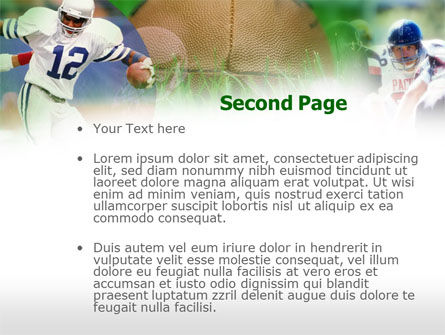 American Football In A Green Grass PowerPoint Template Slide 2