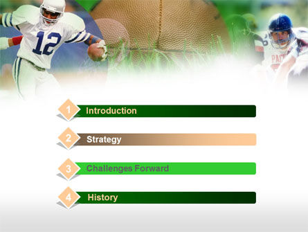American Football In A Green Grass PowerPoint Template Slide 3