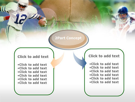American Football In A Green Grass PowerPoint Template Slide 4