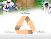 American Football In A Green Grass PowerPoint Template#10