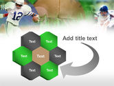 American Football In A Green Grass PowerPoint Template#11