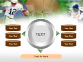 American Football In A Green Grass PowerPoint Template#12