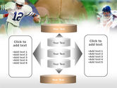 American Football In A Green Grass PowerPoint Template#13
