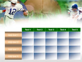 American Football In A Green Grass PowerPoint Template#15