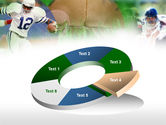 American Football In A Green Grass PowerPoint Template#19