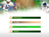 American Football In A Green Grass PowerPoint Template#3