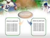 American Football In A Green Grass PowerPoint Template#4