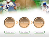 American Football In A Green Grass PowerPoint Template#5