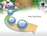 American Football In A Green Grass PowerPoint Template#6