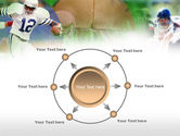 American Football In A Green Grass PowerPoint Template#7