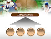 American Football In A Green Grass PowerPoint Template#8