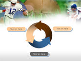 American Football In A Green Grass PowerPoint Template#9