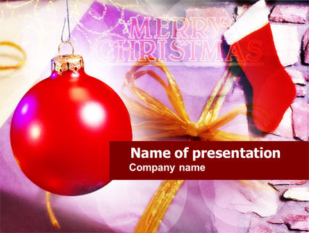Merry Christmas PowerPoint Template, 00656, Holiday/Special Occasion — PoweredTemplate.com