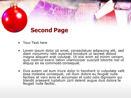 Merry Christmas PowerPoint Template, Slide 2, 00656, Holiday/Special Occasion — PoweredTemplate.com