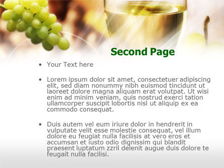 White Wine PowerPoint Template Slide 2