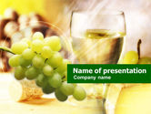 Food & Beverage: White Wine PowerPoint Template #00657