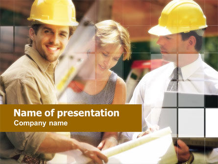 Construction: Building New Home PowerPoint Template #00659
