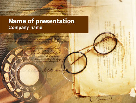 Old Glasses PowerPoint Template