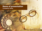 Business Concepts: Old Glasses PowerPoint Template #00664