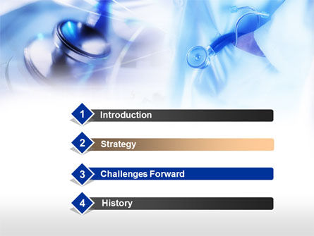 Stethoscope In Light Blue Colors PowerPoint Template, Slide 3, 00665, Medical — PoweredTemplate.com