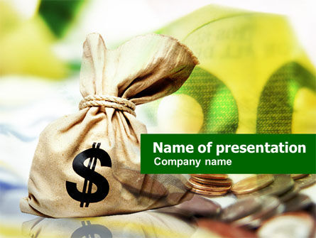 Money Sack PowerPoint Template, 00667, Financial/Accounting — PoweredTemplate.com