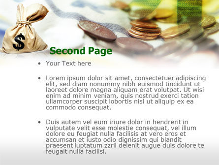 Money Sack PowerPoint Template, Slide 2, 00667, Financial/Accounting — PoweredTemplate.com