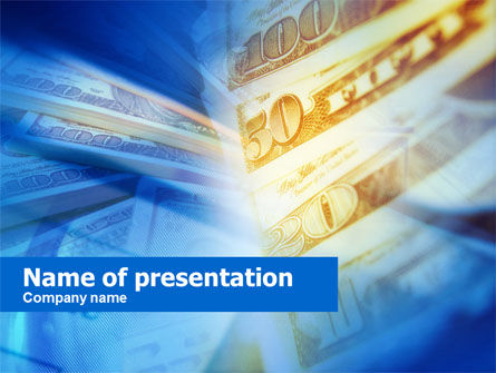 Financial/Accounting: Dollar-scheine PowerPoint Vorlage #00668