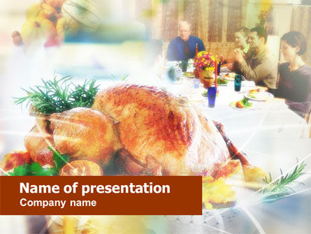 Holiday/Special Occasion: Thanksgiving Dinner PowerPoint Template #00671