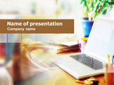 Technology and Science: Working from Home PowerPoint Template #00672