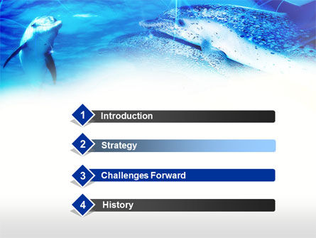 Dolphins Under The Sea PowerPoint Template, Slide 3, 00674, Animals and Pets — PoweredTemplate.com