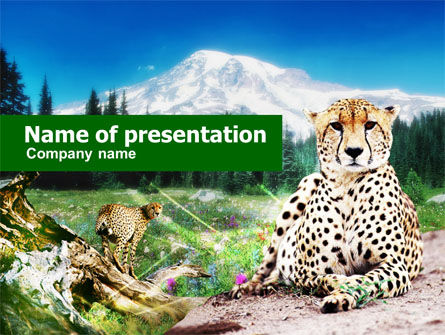 Animals and Pets: Gepard Free PowerPoint Template #00676