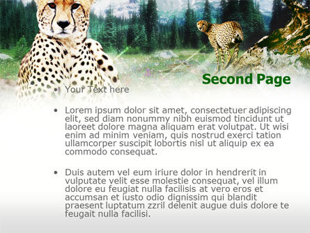 Gepard Free PowerPoint Template, Slide 2, 00676, Animals and Pets — PoweredTemplate.com