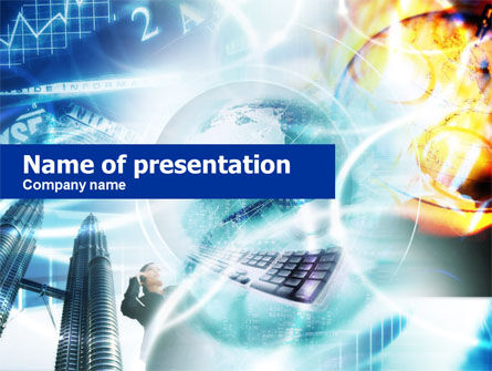 Business World PowerPoint Template, 00677, Business — PoweredTemplate.com