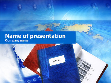 Business: Copybooks And Notebooks PowerPoint Template #00678