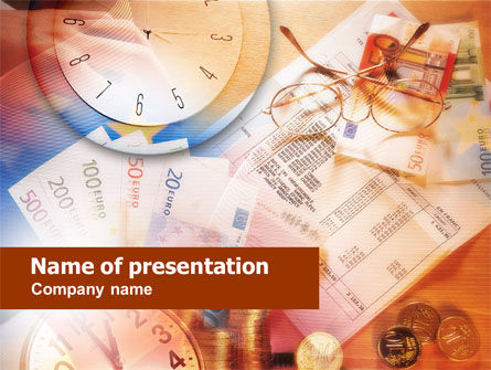 Financial/Accounting: European Finance PowerPoint Template #00679