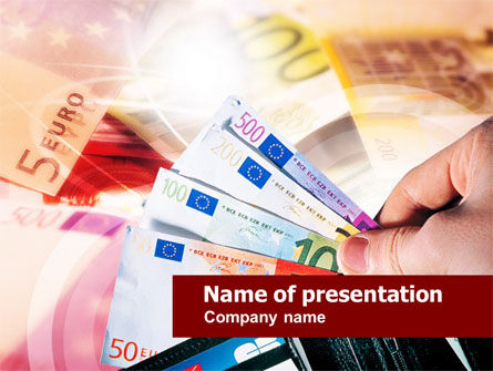 Euro Money PowerPoint Template, 00681, Financial/Accounting — PoweredTemplate.com